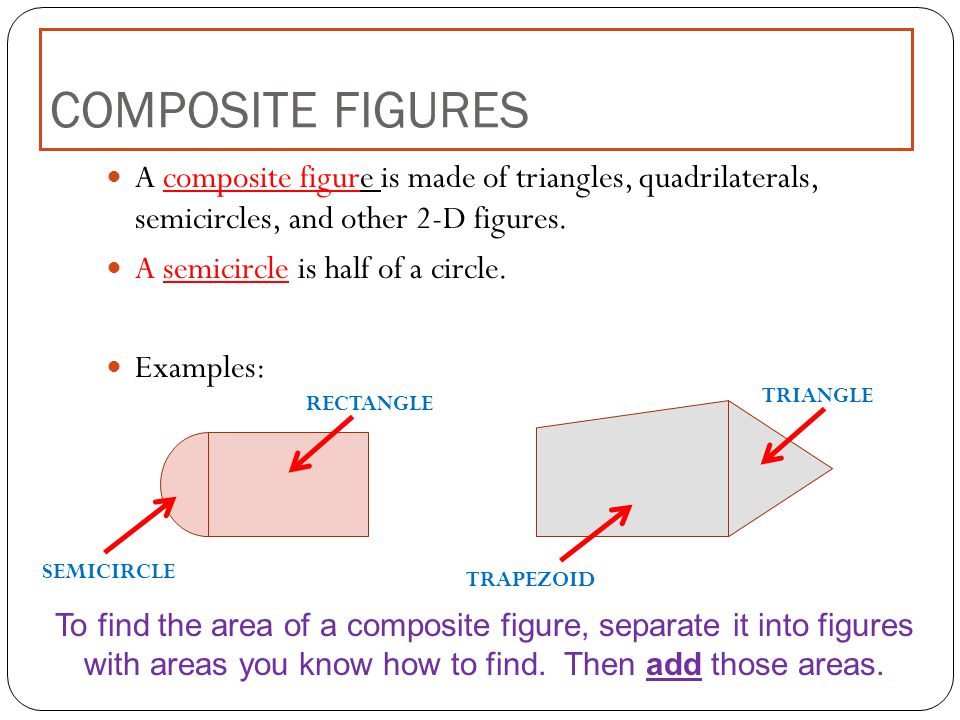 area of composite shapes rectangles example