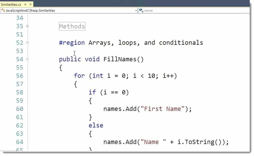 array in javascript example code