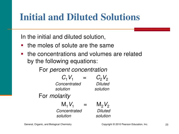 what is an example of dilute solution
