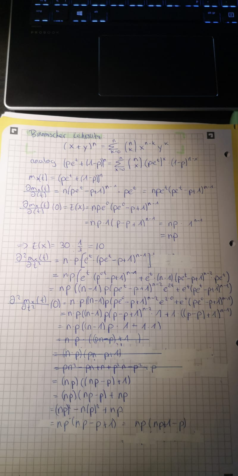 binomial distribution formula with example