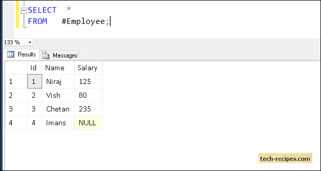 example of null value in database