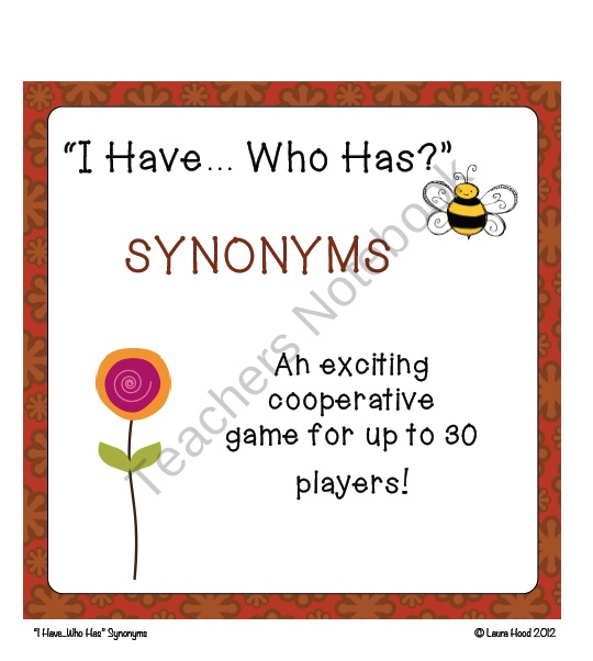 give example of antonyms and synonyms
