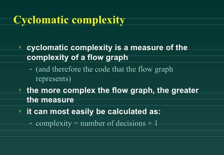 cyclomatic complexity flow graph example