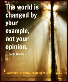 lead by example not by words