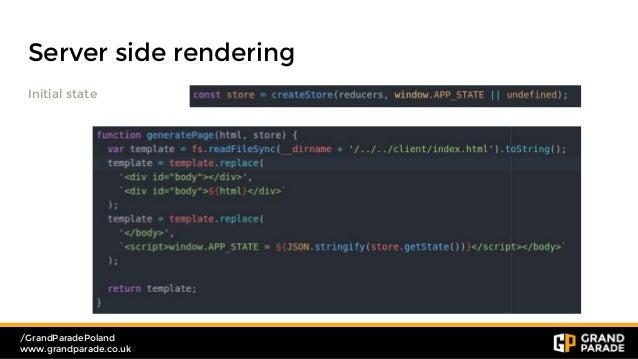 react server side rendering example