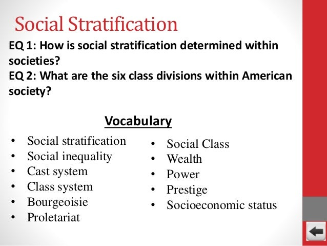 define stratification with an example