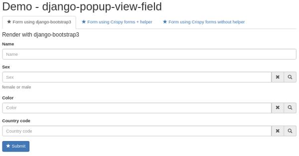django crispy forms bootstrap example github