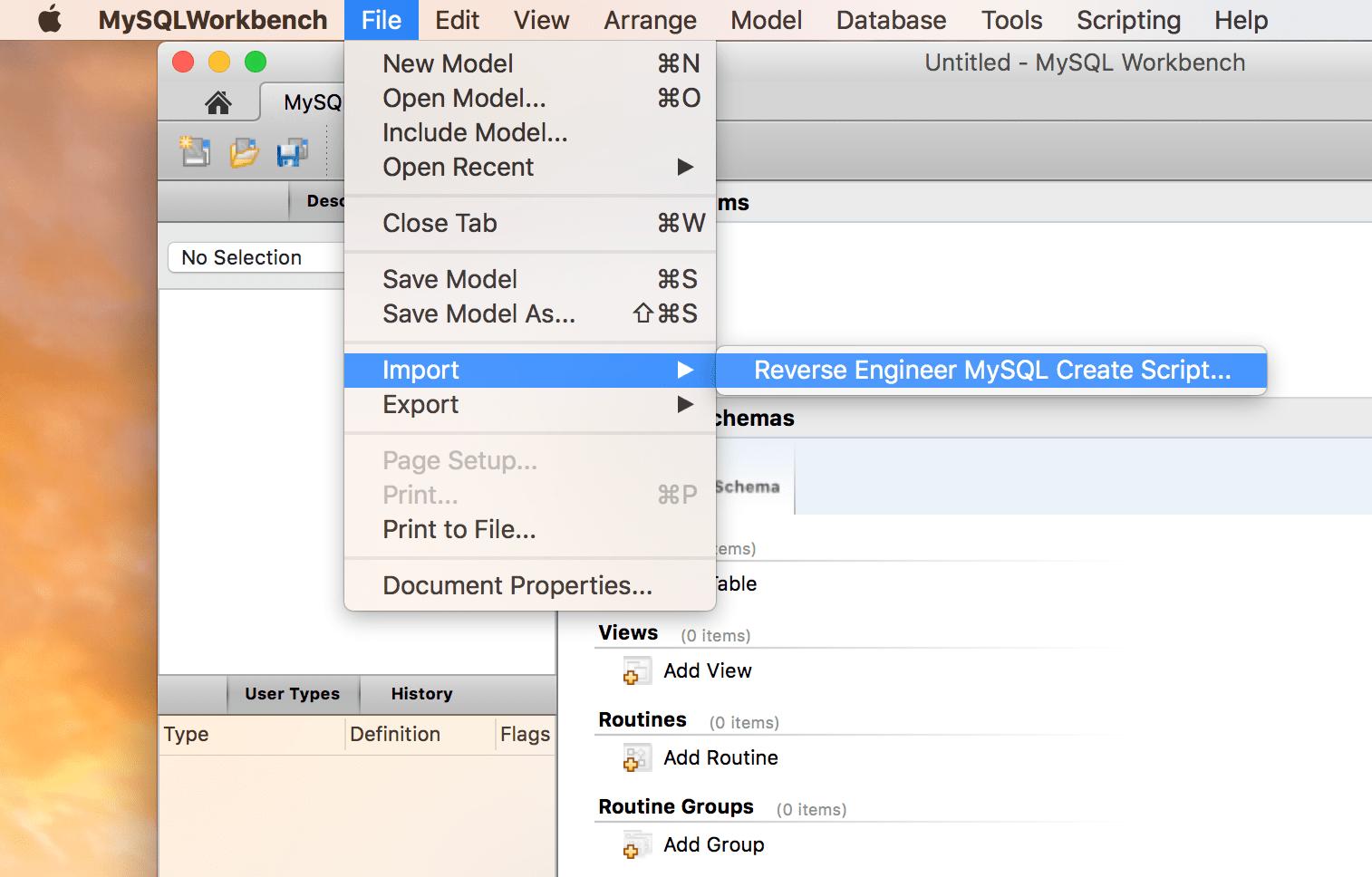 mysql create database script example
