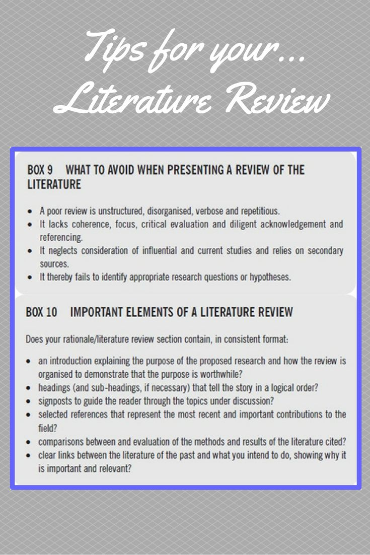 example of literature review in a research paper