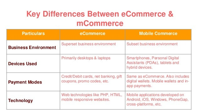 e business vs e commerce example
