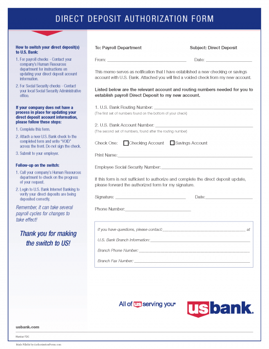 example of td bank voided check for direct deposit