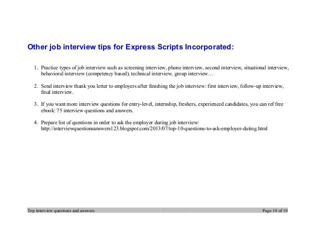 example of job interview script
