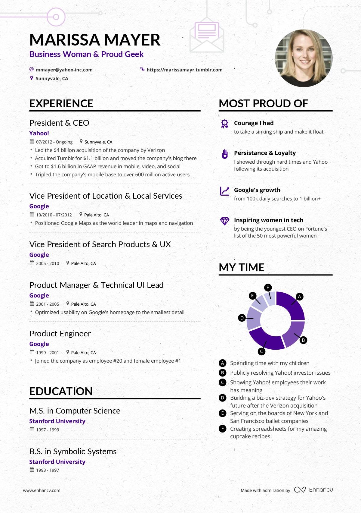 example of successful resume for indigo