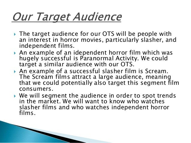 example of target audience description