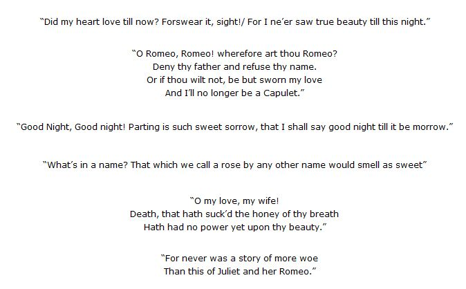 example of unrequited love in romeo and juliet