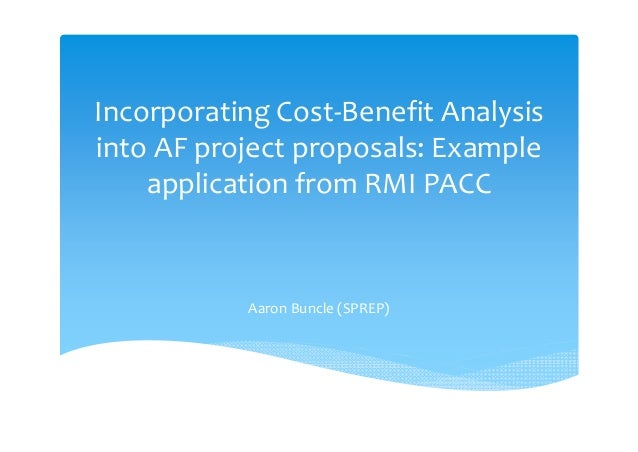 cost benefit analysis in project management example