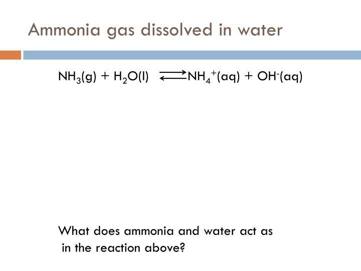 gas dissolved in liquid example