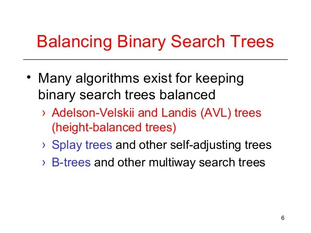 how to balance a binary search tree example