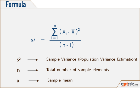 how to find population variance example