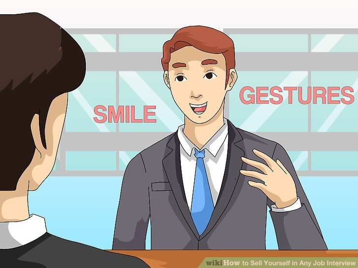 how to sell yourself for a job example