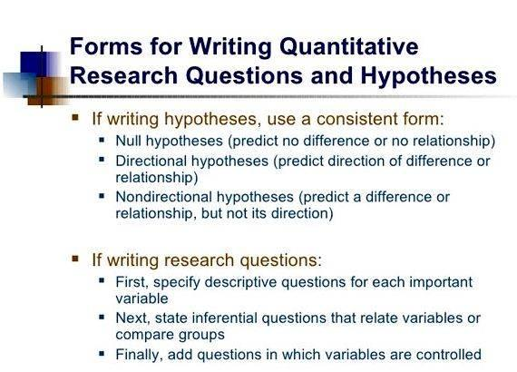 hypothesis in research proposal example