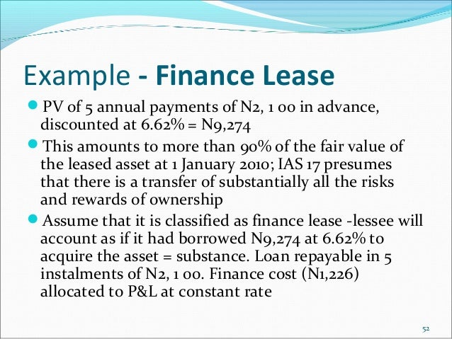 ias 17 finance lease example