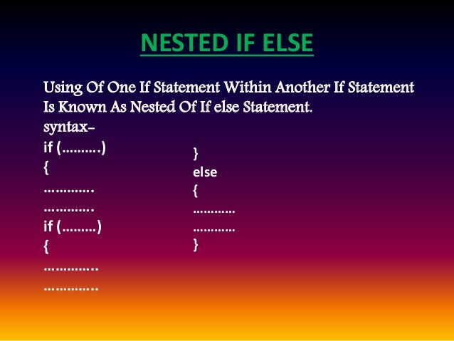if statement in c example