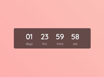 jquery countdown timer example free download