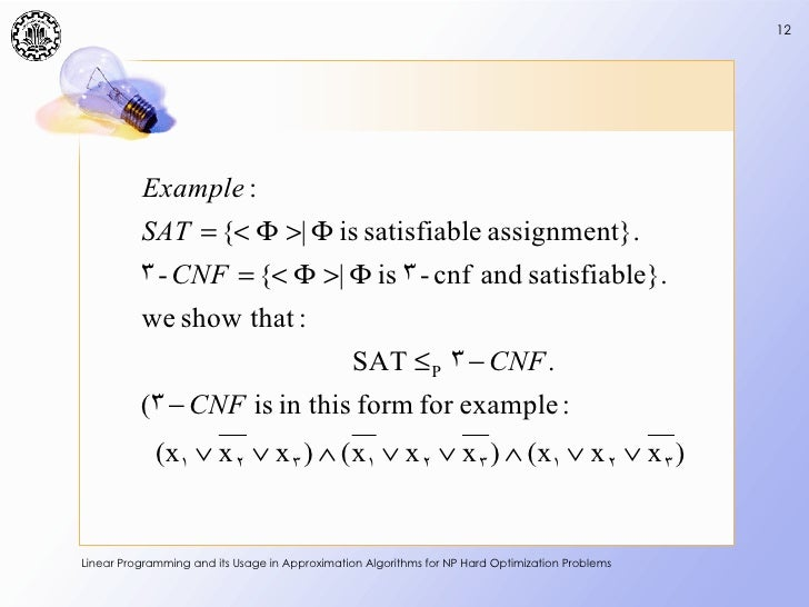 linear programming assignment problem example