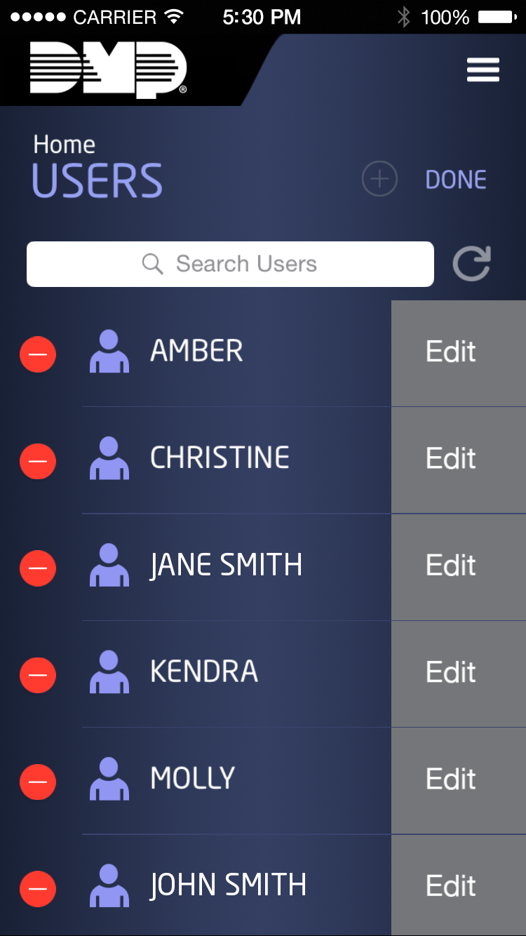 manage the users of the the app example