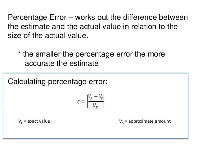 mean square error calculation example