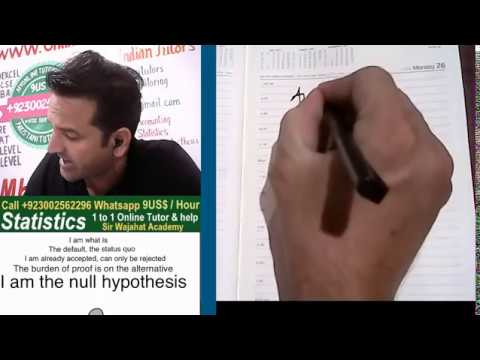 null hypothesis example in hindi