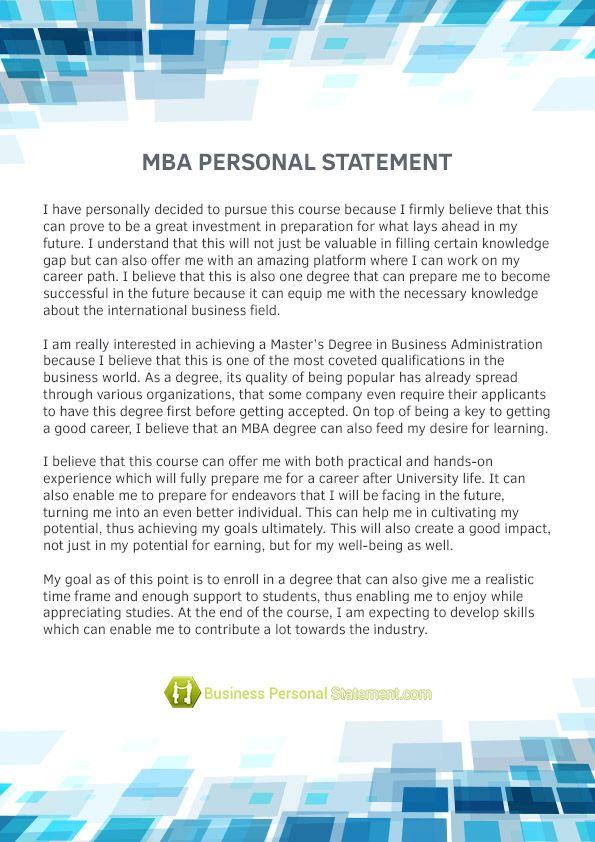 personal statement example master logistics