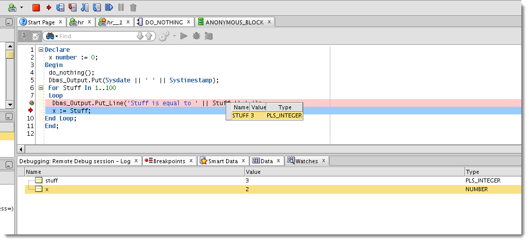pl sql block example in oracle