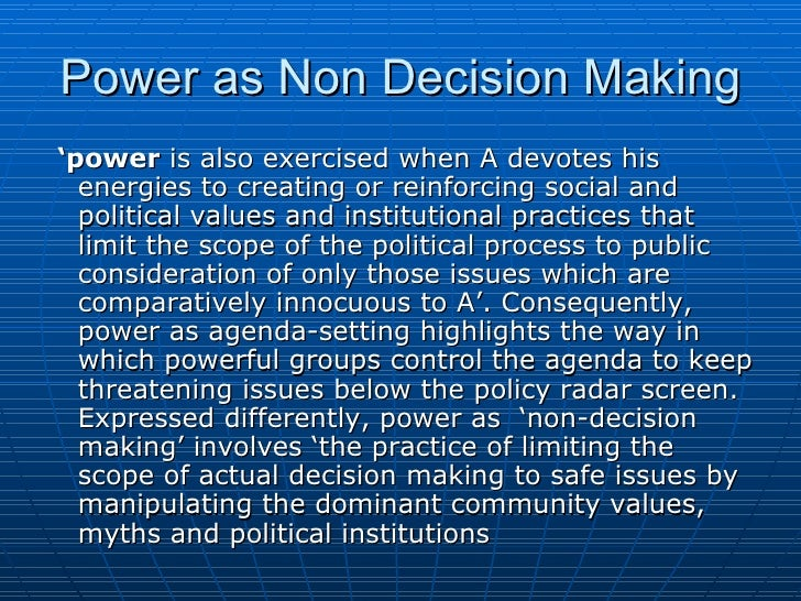 political decision making model example