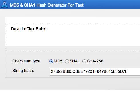 sha1 hash generator java example
