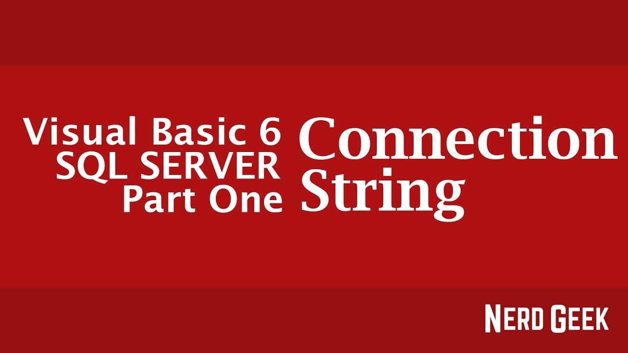 vb6 sql server connection string example