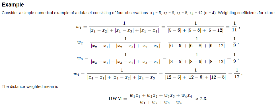 weighted moving average method example