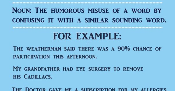 what is an example of a malapropism