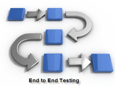 what is end to end testing with an example