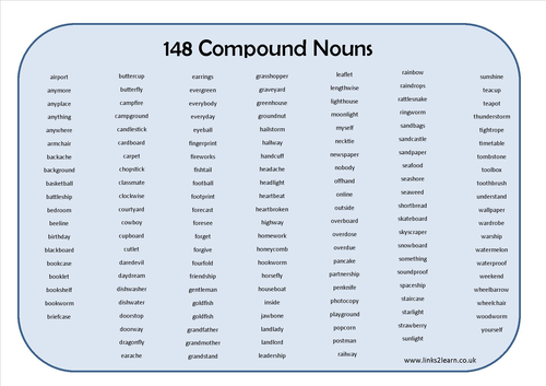 what is the example of compound noun